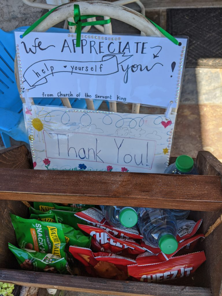 Appreciation box for delivery personnel