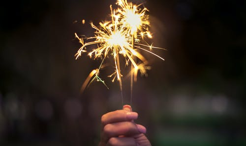 sparkler for july